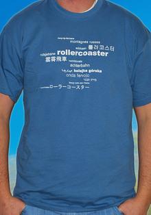 T-Shirt Babel stahlblau